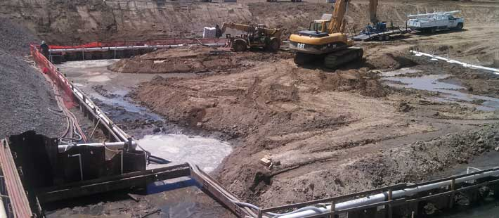Earth Work for the Waste Water Treatment Facility